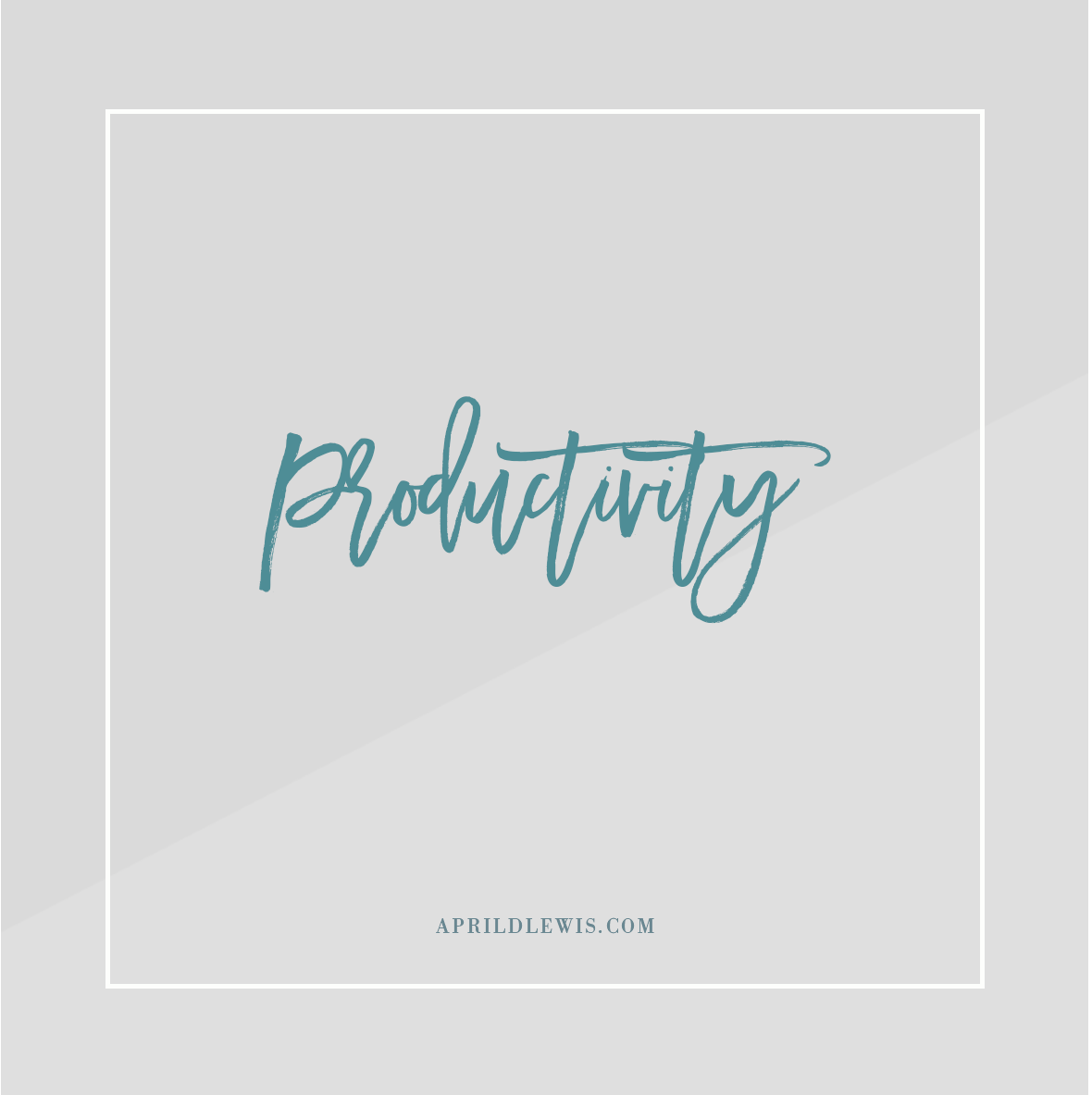 Click here for productivity articles